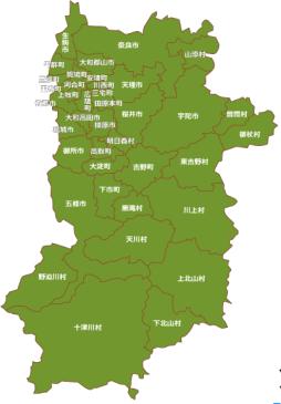 奈良県 バッテリー上がり救援出動エリア