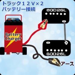 トラック24Vバッテリーチャージ