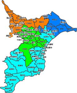 千葉県区域図