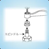 水栓 スピンドル不良による水漏れ