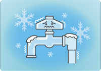 低温による水道管凍結に注意しましょう