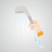 シャワーホースを伝わって流れる水がみずもれの原因になる場合があります