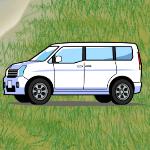 三菱ミニバンDS17V フロントガラス出張交換サービス